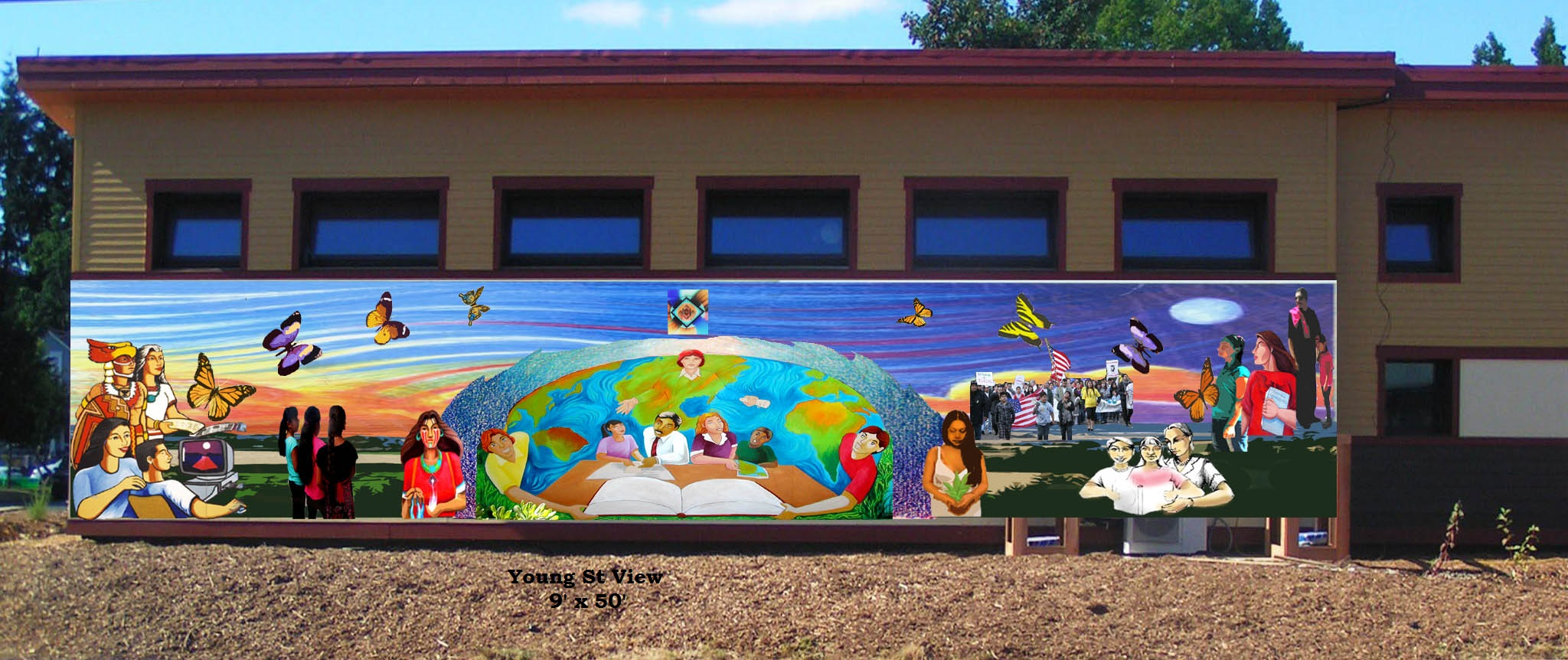 Help us paint history cli mural project capaces for Community mural